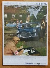 No 157 Ford Zephyr Mk 2 1960 Postcard Vintage Ad Galllery VF15PC *Mint*