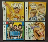 Disney Jonas Hannah, Zack & Cody, So Raven  - Game Lot Nintendo DS Lite 3DS 2DS