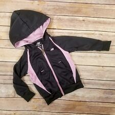 New Balance Jacket Hoodie Toddler Girls 2T Gray Pink Coat Zip Up Coat Outerwear