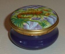 Halcyon Days Tiffany & Co Zodiac Astrology Scorpio Round Enamel Trinket Box
