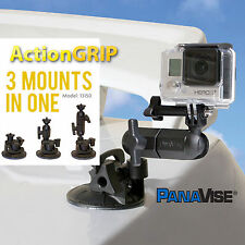 Panavise ActionGrip 3-In-1 Suction Cup Camera Mount Kit 13150 - GoPro Hero