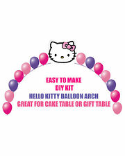 Hello Kitty Birthday Party BALLOON ARCH for Cake Table Gift Table