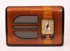 Old Antique Wood GE Vintage Tube Radio -Restored & Working Art Deco Table Top