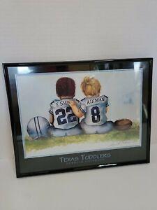 "1995 Texas Toddlers 8"" X 10"" Framed Print Kenneth Gatewood E. SMITH Troy AIKMAN"