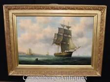 Victorian Oil Painting Bristol Channel Clipper Maritime Seascape