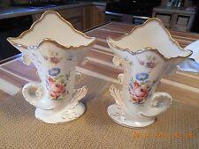 St Regis Porcelain Cornucopia Vases