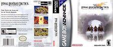 Final Fantasy Tactics Advance GBA reproduction couverture art work (pas de jeu, pas de boîte)