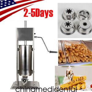 Stainless Steel Commercial Manual Spanish Churro Maker Doughnut Machine USA FDA