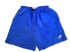 Vintage Nike Shorts Men's M Nylon Blue 90s Brief Lining Lined L FLAW