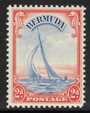 BERMUDA SG112a 1940 2d ULTRAMARINE & SCARLET MNH