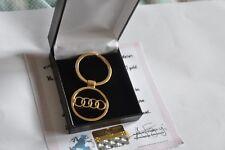 Audi A4 A6 Q3 Q7 R8 Key ring Keyring Car Chain Car Ring 24K Gold Plated Gift Box