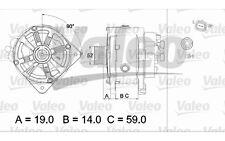 VALEO Alternador RENAULT MEGANE LAGUNA SCENIC ESPACE 437433 (Compatible con más