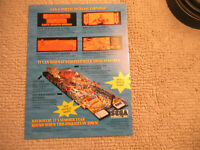 odd size 11- 8 3/8'' baywatch sega  pinball  ARCADE GAME FLYER