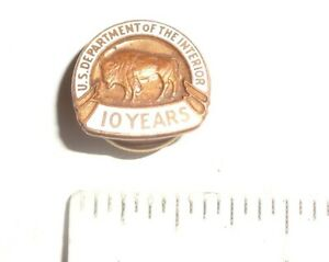 1950s 10 Year US Department of the Interior National Park Service Employee Pin