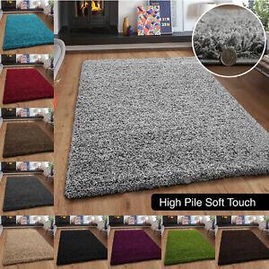 Non Slip Fluffy Shaggy Rugs Large Bedroom Living Room Floor Carpet Rug Small Mat