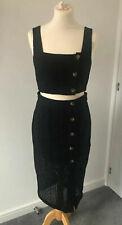 BNWT Womens & Other Stories Black Two Piece Dress UK 10 EU 36