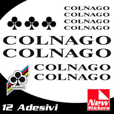 Set 12 adesivi COLNAGO colore NERO  bici bike stickers decals frame BLACK