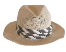 Men's Straw Hat Panama Style Medium Sun Blocker Golf Beach Beige