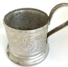 Glass Holder Ussr Tea Russian Podstakannik Vintage Cup Soviet Coat Metal Rare