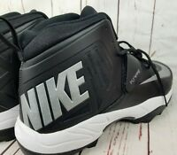 Nike Zoom Code Elite Stove Shark Black/Silver Football Cleats 603350-002 Size 17