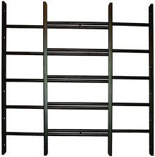 5-Bar Security Window Guard Adjustable Width Black Rust Resistant NonToxic Steel