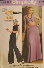 Simplicity Jiffy Knits pattern 6410 Misses' Midriff Top,Skirt, Pants sz 12 uncut