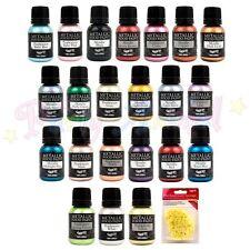 Rainbow Dust Metallico Commestibile Per Cibo Paints Set Completo 22 con Free PAN DI SPAGNA Decor