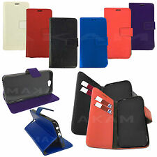 PU Leather Book Wallet Flip Case Cover For Microsoft Lumia 550 With Card Slots
