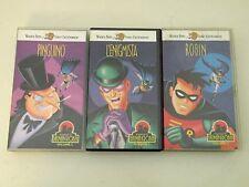 LOTTO/STOCK - LE AVVENTURE DI BATMAN E ROBIN - 3 VHS - BUONE CONDIZIONI V18