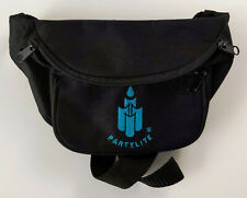 Partylite Fanny Hip Bag Purse Vintage Rare Htf Black Embroidered 90s Candles