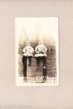 RPPC 1912 CLover West Virginia Pr Young Box Driver Boys Identified Holding Whips