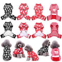 Christmas Pet Dog Jumpsuit Pajamas Puppy Cat Coat Clothes Xmas Cute Costume