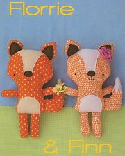 FLORRIE & FLINN Fox - Sewing Craft PATTERN - Soft Toy Felt Rag Doll Bear