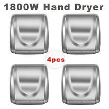1800W Automatic Comercial Electric Hand Dryer HighSpeed Bathroom Restroom 4Pack