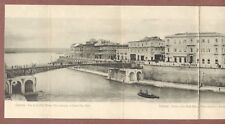 Taranto,  panoramic letter-card  The New City, Bridge  Corso Due Mari    RK416