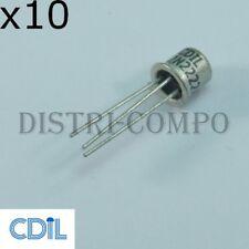 2N2222A Transistor NPN 40V 0.8A TO-18 CDIL RoHS (lot de 10)