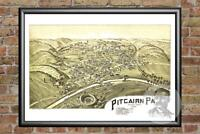 Old Map of Pitcaim, PA from 1901 - Vintage Pennsylvania Art, Historic Decor