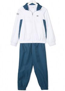 Lacoste Mens Colour-Blocked Logo Tracksuit Set White/Team Blue Size 2XL RRP £205