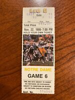 1986 Notre Dame vs LSU Ticket Lou Holtz First Year
