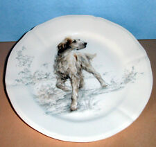 """Gien Sologne English Setter 9"""" Dessert Salad Accent Plate French Faience New"""