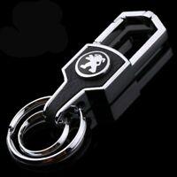 Peugeot car metal keyring key safe fob case cover badge holder chain tags