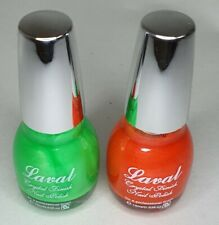 Halloween Set Of 2 Pumpkin Orange And Witches Green Laval Nail Polish Colour