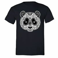 PANDA Sugar Skull SHIRT Day of the Dead Dia Los muertos Mexico T-SHIRT tee Black