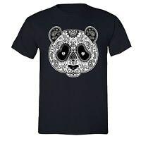 PANDA Sugar Skull SHIRT Day of the Dead Dia Los muertos Mexico T-SHIRT tee Black