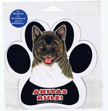 Akita Rules Waterproof Bumper Sticker Magnet Nip (#1)
