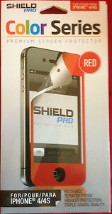 Apple iPhone 4 & 4S Screen Protector in Clear, Colors, Front or Back
