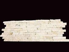 Split Face Mini Mosaic Tile Ledge Stone White / Cream   ( SAMPLE )