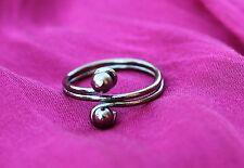 Bague de pied / orteil bijou couleur argent Bollywood Sari Inde
