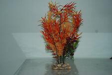 Plantas De Acuario Piedra Base 10cm base y 30 Cms De Alto Naranja y rojo en COLOR