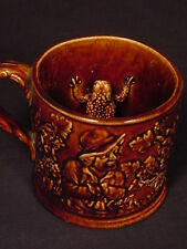 RARE 1800s FROG MUG ROCKINGHAM YELLOW WARE MINT